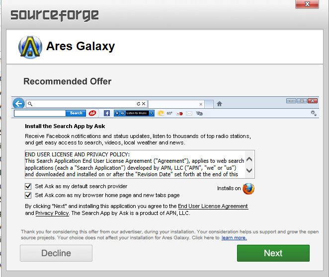 old ares galaxy free download